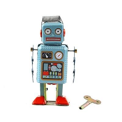1 unid Vintage Mecánico Mecánico Wind Up Metal Walking Robot Juguete de Lata Regalo de Los Cabritos Worldwide Selling: Bebé