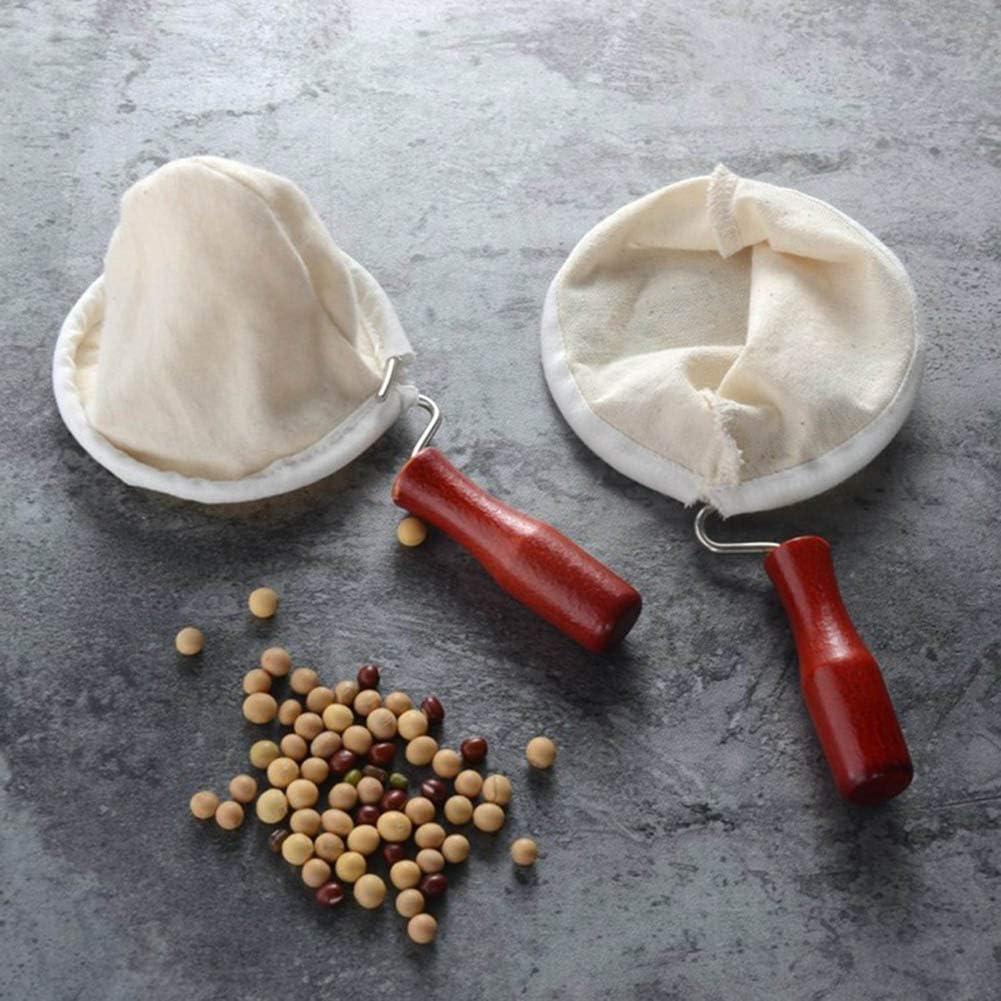 UMBEST Wooden Handle Flannel Coffee Maker Dripper Filter Cloth Bag Reusable Coffee Filter Sachet Drip Coffee Maker Accessories