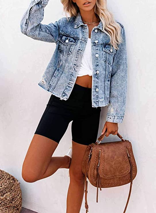 Fitted Denim Jean Jacket | Casual fit classic denim jacket | great for casual outfit | Perfect addition to your wardrobe