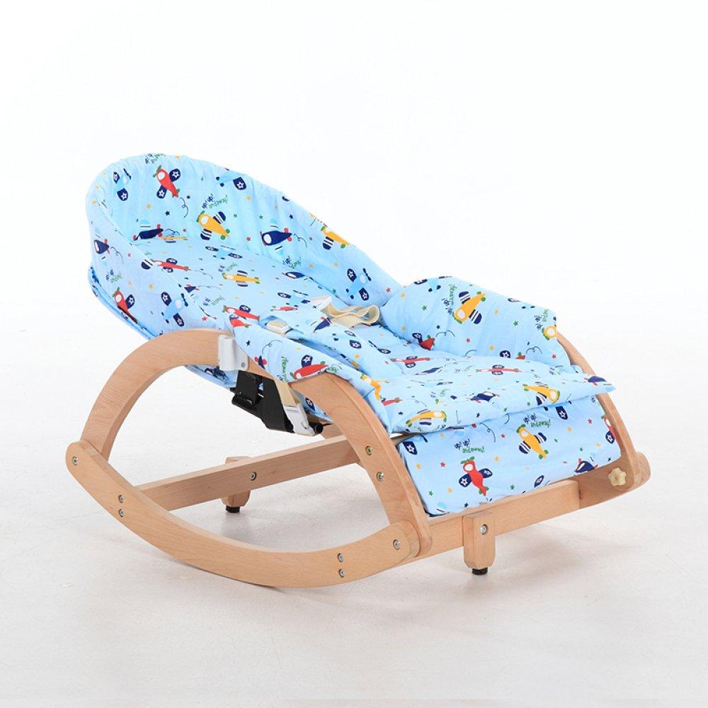 silla mecedora para bebe de madera maciza