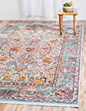 A2Z Rug Light Blue 8′ 4 x 10′ Feet St. Tropez Collection Traditional and Modern Area Rugs and Carpet
