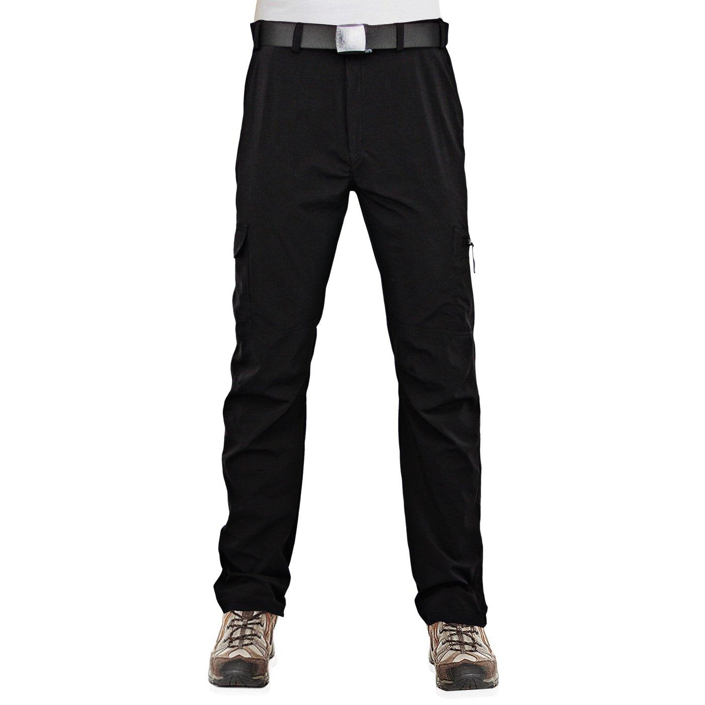 Black 38W x 32L InfinityDry Men's Quick Dry Outdoor Pants Hiking Camping
