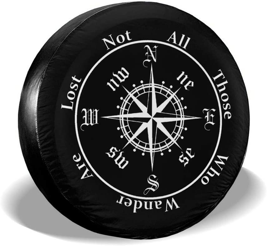 SUV RV SHOE GONE Car Tire Cover Compass Spare Wheel Tire Cover for Trailer Truck Wheel,Camper Travel Trailer Accessories 14 Inch