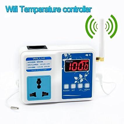 Keynice® WILLHI wh-1436 App WiFi Digital Inteligente controlador de temperatura, Termómetro inalámbrico