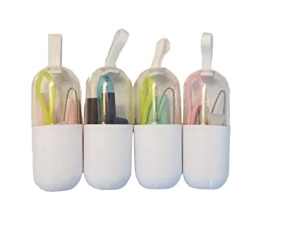 Reusable Silicone Straws, Straw Cleaning Brush, Brush Case, Collapsible  Straw, Drinking Straw, Travel Straw