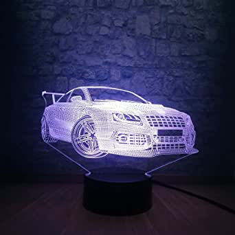 3D Night Light Cool Car Night Light 3D LED USB Light Atmosphere lamp Decorated Bedside Table Lamp Decor Children Kids Toy
