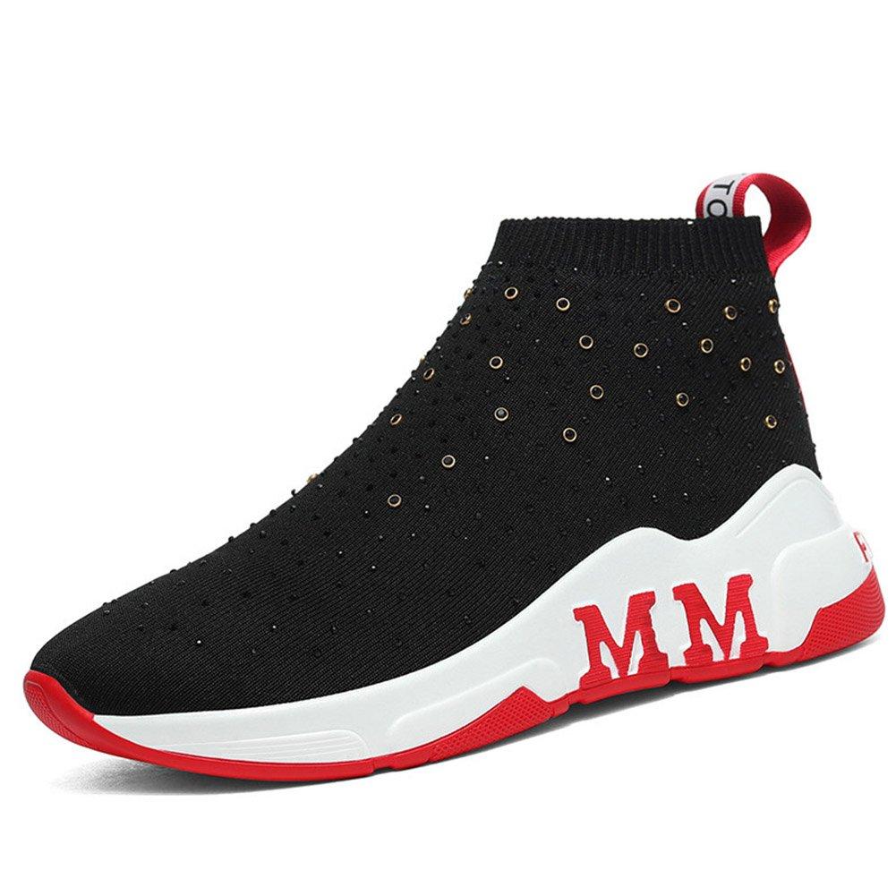 QIDI Sportschuhe Frau Modisch Flacher Boden Lässig Atmungsaktiv Gummi Einzelne Schuhe (Farbe   T-2 größe   EU36 UK3.5)