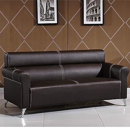 Amazon.com: XINTONGDA Leather Sofa Retro American Sofa ...