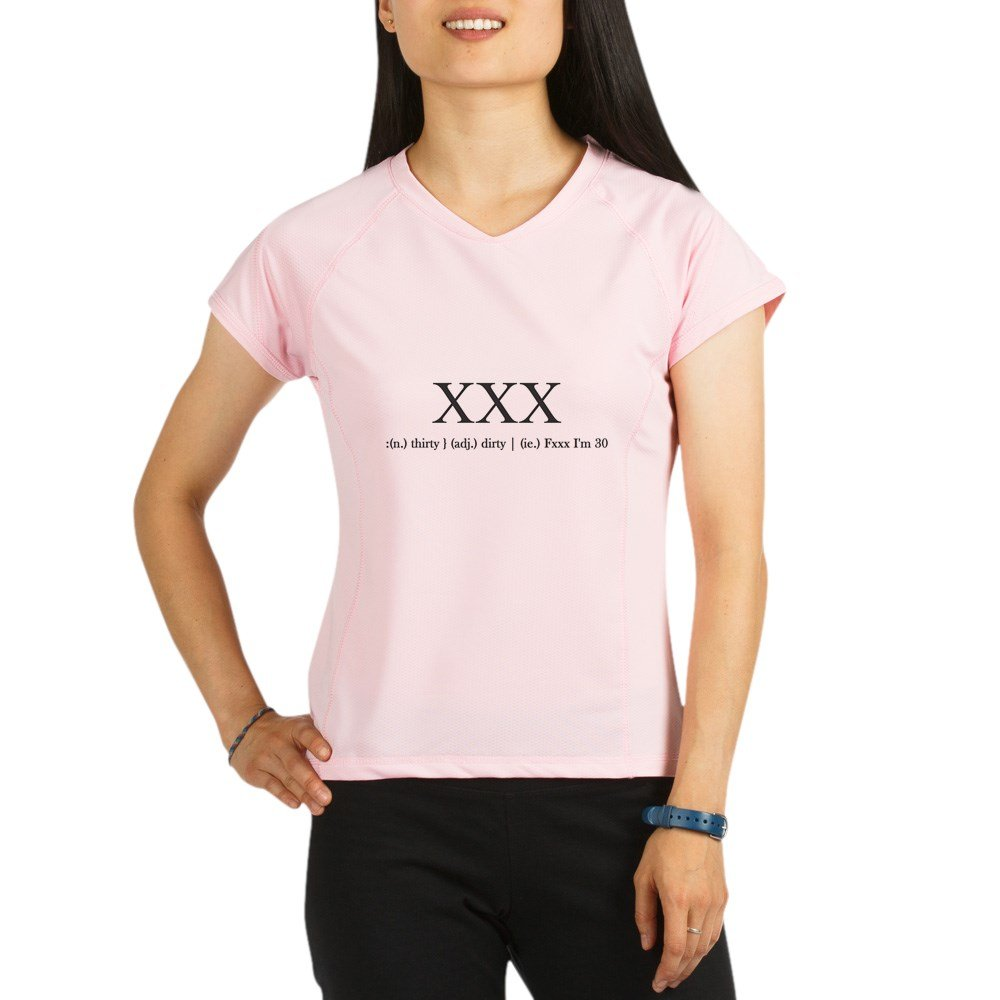 217c2bf1e Amazon.com: CafePress - Dirty Thirty - Womens Athletic T-Shirt, Performance  Dry Shirt Pink: Clothing