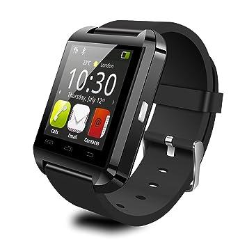 willful U8 Bluetooth Smart Watch, negro