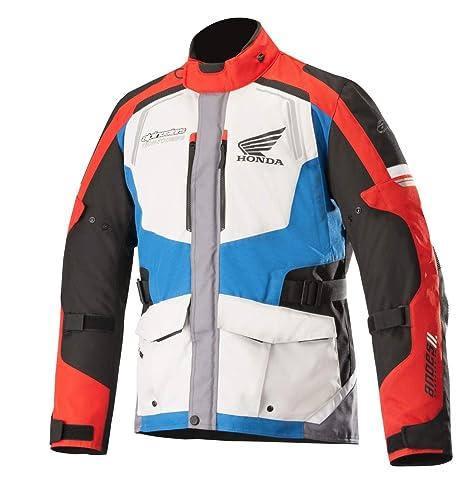 f84eedb564b Alpinestars Chaqueta para moto Andes V2 drystar Jacket Honda Gris Azul Rojo  M