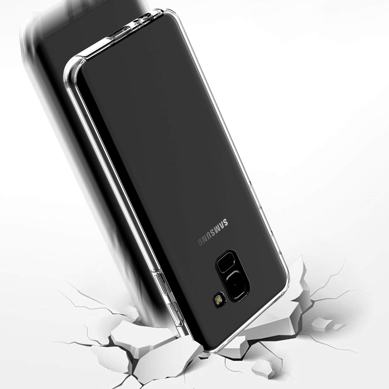 Housse Etui Tactile 360 degr/é New/&Teck Coque 360 Degr/é pour Samsung Galaxy J4 Plus 2018 Arri/ère en Rigide Protection int/égrale Avant Transparent J4 Plus 2018 Antichoc