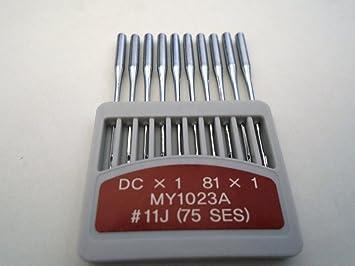 Amazon.com: ngosew overlock máquinas de coser Aguja DCX1 81 ...