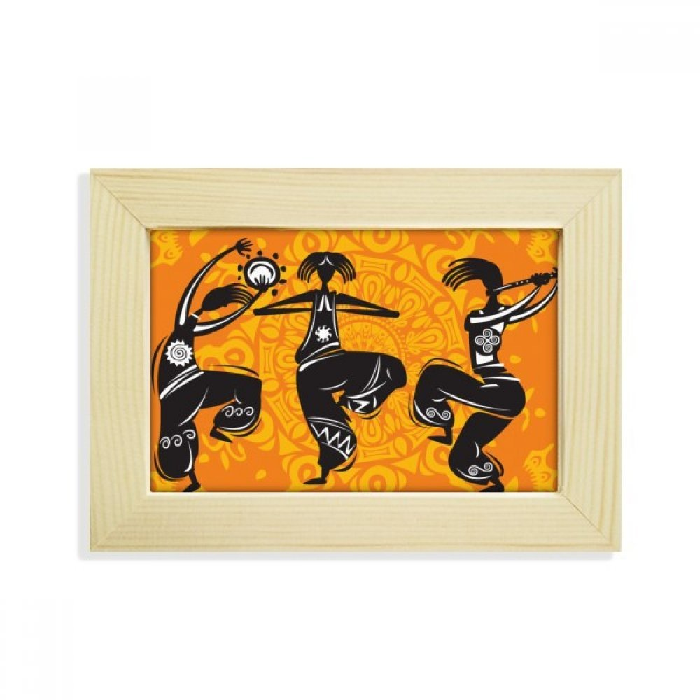 DIYthinker Dance People Mexico Totems Mexican Flute Desktop Wooden Photo Frame Picture Art Painting 5x7 inch