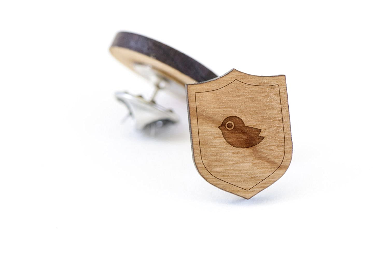 Wooden Pin Chickadee Lapel Pin