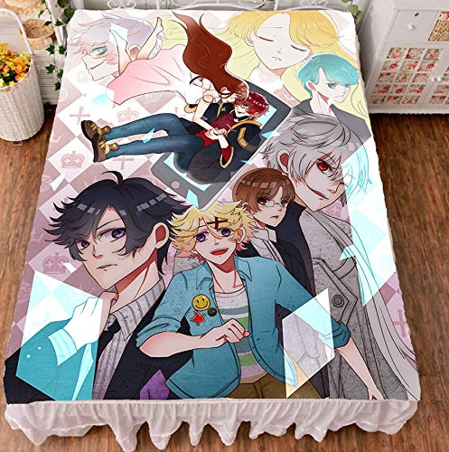 MXDFAFA Japanese Anime Mystic Messenger Bed Sheet Throw Blanket Bedding Coverlet Cosplay Gifts Dropshipping Cartoon Cute Bed Sheet by MXDFAFA