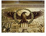 Roman Empire SPQR Eagle Area Rug Flag Ring Rome Legion Army Banner Coin R3 (6'6'' x 9'6'' ( 200 x 290 cm.))