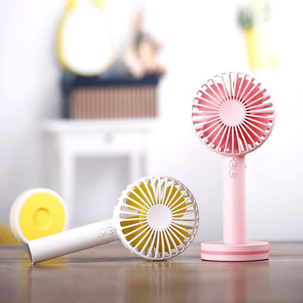 Pink Mini USB Fan Portable Hot Summer USB Charging Outdoors Handheld Table Mini Air Cooling Fan for Gift Home Outdoor
