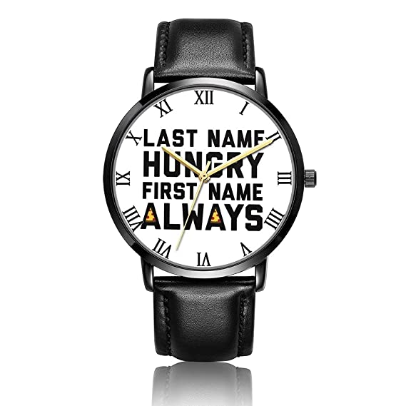 Whiterbunny - Reloj de pulsera unisex analógico de cuarzo con diseño de marido siberiano, correa de piel negra/placa de dial negra para mujeres y hombres: ...