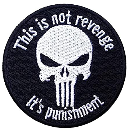 Hook Fastener Punisher Skull This Is Not Revenge Black Jacket Cap Tactical Morale Patch by Titan One Europe