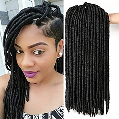 6packs/lot Faux Locs Crochet Twist Braids Synthetic Hair Extensions Fauxlocs Kanekalon Fiber Braiding Hair Afro Kinky Soft Dread Dreadlocks 14'' 18''