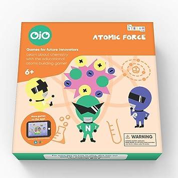 OjO Atomic Force, un Juego de Ciencia para niños. Niños y niñas aprenden química a través del Juego de Mesa de la Fuerza Atómica. A Partir de 6 años.: Amazon.es: Juguetes y