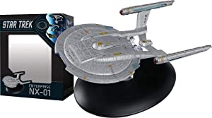 Eaglemoss DEC172289 Star Trek The Official Starships Collection USS Enterprise NX-01 Ship Replica, Multicolor