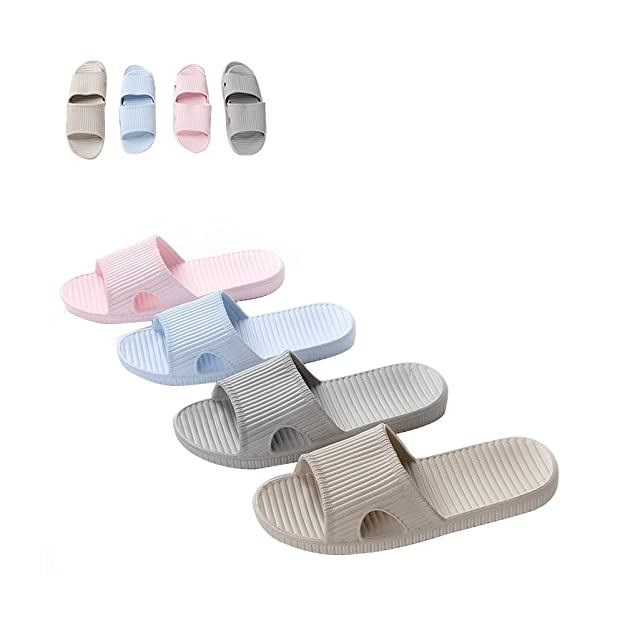 c89cc0efcd1 Slip On Slippers for Man Women - Bath Pool Water Shoe Shower Non-Slip House  Sandals  Amazon.co.uk  Shoes   Bags