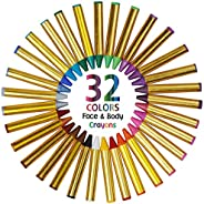 Dress Up America Face Paint Kit - Safe, Non-Toxic, Face and Body Paint Crayons Made in Taiwan - Halloween Make