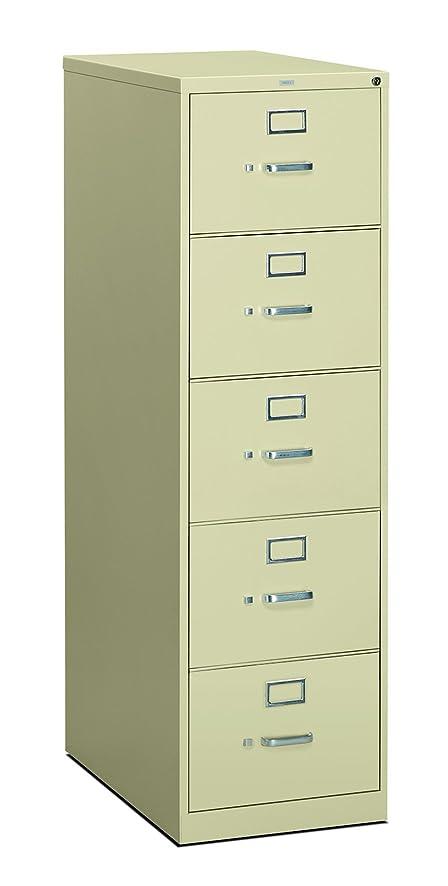 Amazon.com: HON 5-Drawer Office Filing Cabinet - 310 Series Full ...