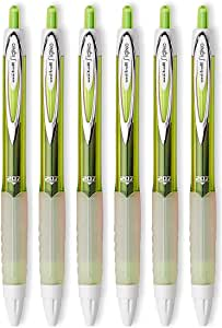 Uni-ball Signo 207 Retractable Gel Pens, Medium Point, 0.7mm, Green Ink, 6 Count