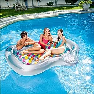 JYY Piscina Flotador Balsa Verano Natación Cama Flotante Agua Recreación Ocio Tumbona Playa Juguete Flotador De Piscina Al Aire Libre con para Niños ...