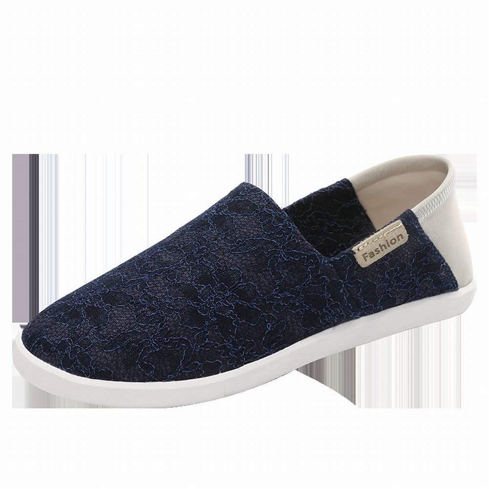 Fuxitoggo Atmungsaktive Knospenseidenstofffrauen Beschuht Einfache und Leichte Schuhe im Freienfreizeit-Reiseschuhe (Farbe   Blau Größe   35)
