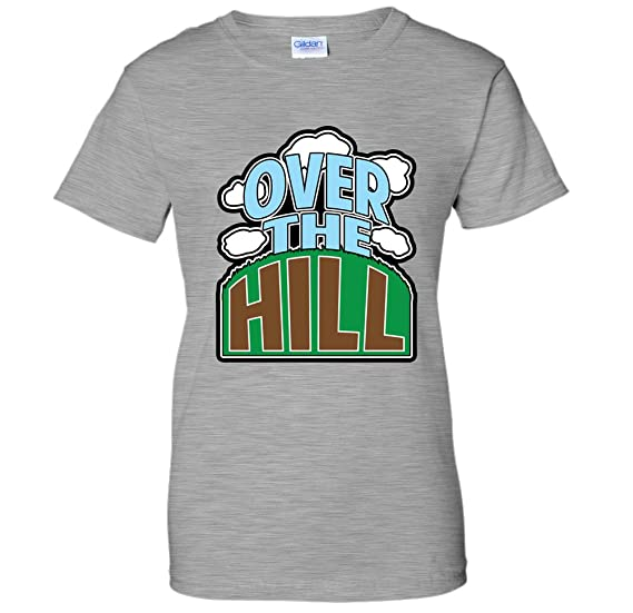 66acdd1073 Over The Hill - Funny 40th Birthday Forty Years Old WOMENS T-Shirt (Small