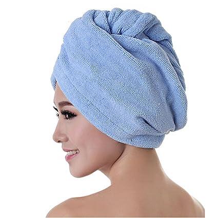 Agia Tex Mujer turbante toalla con botón y trabilla | pelo secado tener y al mismo