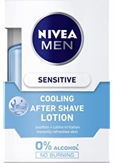 Nivea Men Sensitive Cool Loción After Shave sin Alcohol, Pieles Sensibles - 100 ml
