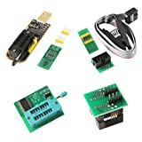 Organizer SOIC8 SOP8 Test Clip For EEPROM 93CXX / 25CXX / 24CXX + CH341A 24 25 Series EEPROM Flash BIOS USB +1.8V Adapter + Soic8 Adapter Programmer Module Kit
