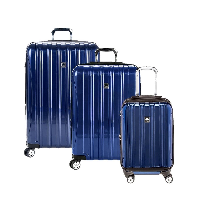 Amazon.com | Delsey Luggage Aero 3 Piece Polycarboante Hardside ...
