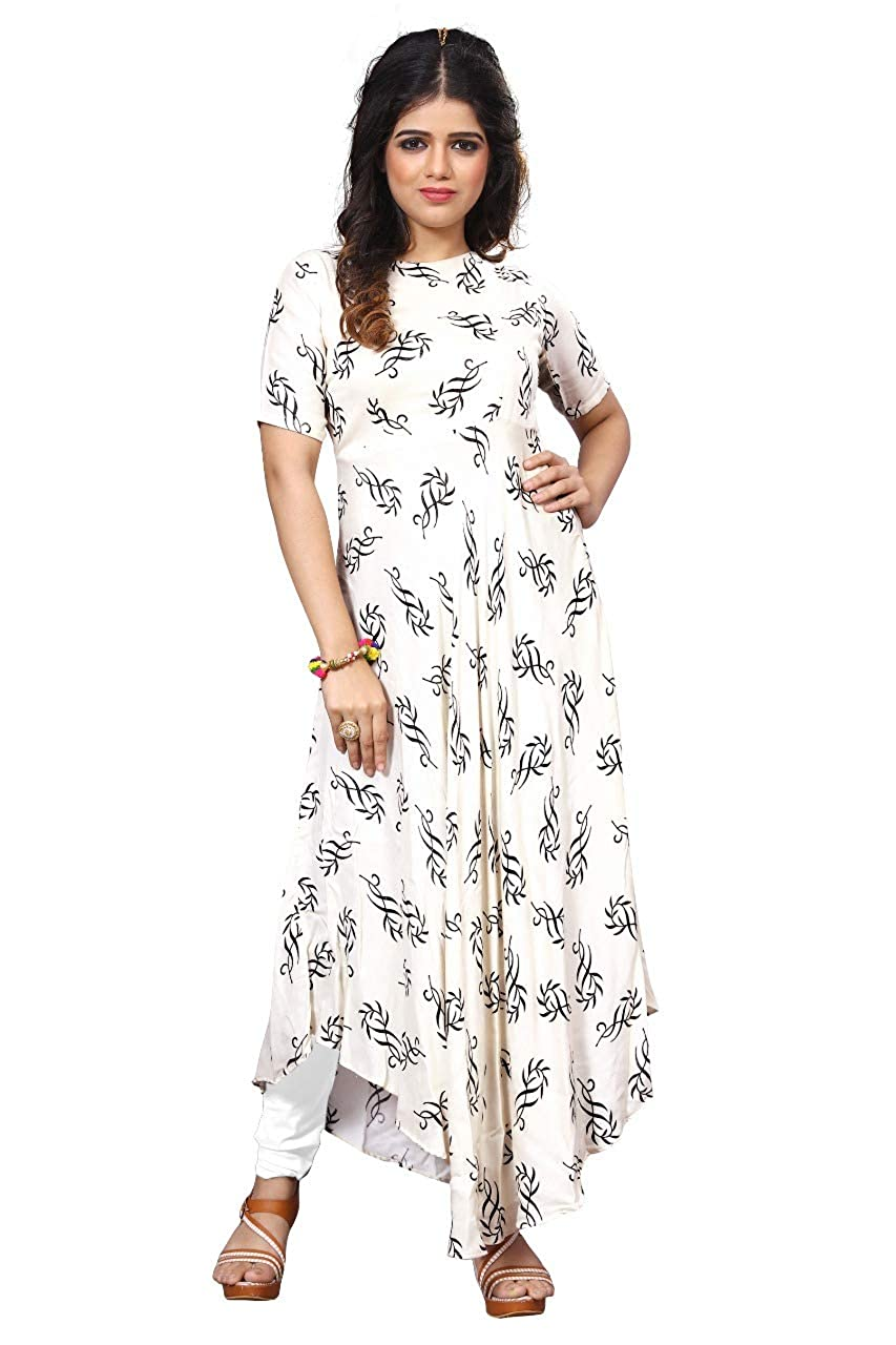 Royal Export Women's Cotton Printed Party Wear Dress