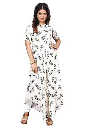 4924697ec58d Royal Export Women s Cotton Printed Party Wear Dress  Amazon.in ...