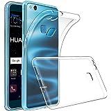 GeeRic Cover Huawei P10 Lite, Trasparente Custodia Huawei P10 Lite Piena Protezione Silicone Case Molle di TPU Ultra Sottile Custodia per Huawei P10 Lite