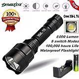 Torcia elettrica LED, Beautytop 5000Lm C8 CREE XM-L T6 LED 18650 torcia lampada Torcia della modalità Torcia 5