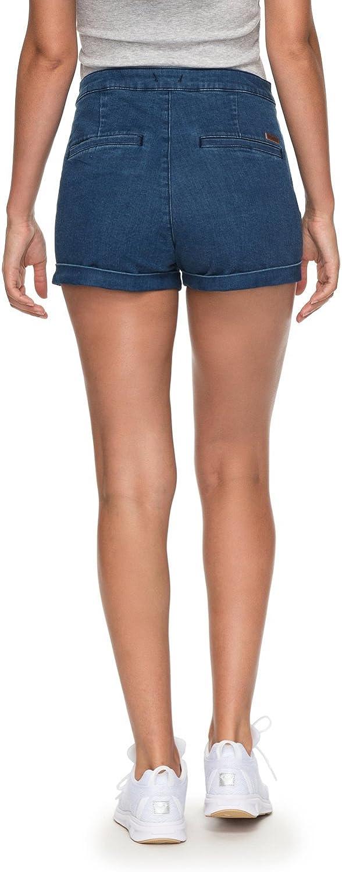 Mujer Roxy Nauticalanchor J Dnst Bpc0 Pantalones Cortos En Denim Talla Alta Mujer Deportes Y Aire Libre Ecotest Ir