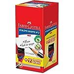 Lapis Preto Redondo Ecolapis 1205 +12 Apont.Gratis - Caixa com 144 Faber Castell, Multicor