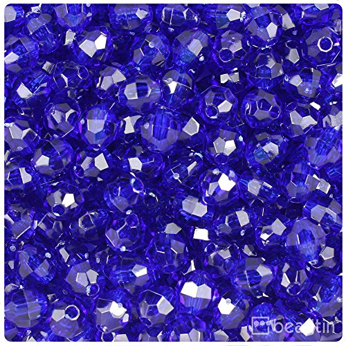 Acrylic 8mm Faceted Beads Round (BeadTin Midnight Transparent 8mm Faceted Round Craft Beads (450pcs))