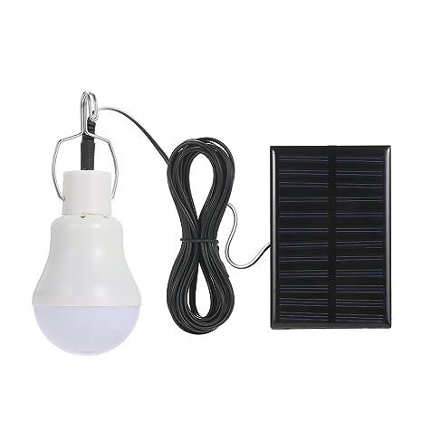 Lixada Energía Solar Potencia LED Bulbo Resistencia al Agua para Senderismo Camping Escalada (Tipo 3