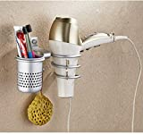 Space Aluminum Wall Mount Spiral Spring Dryer Holder Rack with...