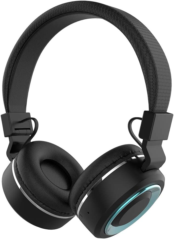 WEILIGU Headphones Bluetooth Wireless Light Weight On Ear Stereo Headphones Bluetooth Headsets Foldable Headsets with Micro Support SD/TF Card Black