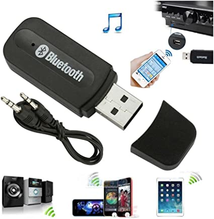 2x Bluetooth Wireless Car USB Stereo Audio Music Speaker Receiver Adapter Dongle