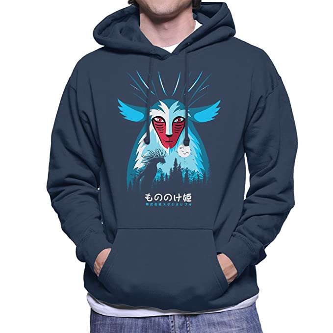 Cloud City 7 Princess Mononoke Spirit Pampling Mens Hooded Sweatshirt